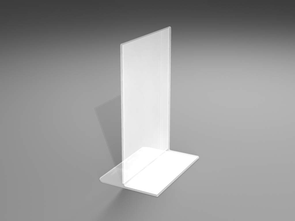 Perspex T-stands